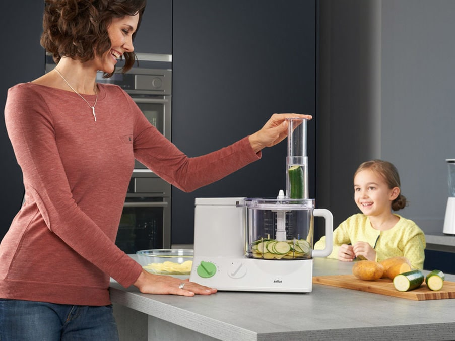 Braun FP3010 Tribute Collection Food Processor blanc//vert-Neuf